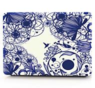 blaue Linie Blume macbook Computergehäuse für macbook air11 / 13 pro13 / 15 Pro mit retina13 / 15 macbook12