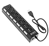 7 Ports High Speed USB Hub On/Off Switch Hub USB Splitter For PC Laptop Computer