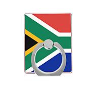 флаг южной африки шаблон пластиковый держатель кольца / 360 вращающийся для мобильного телефона iphone 8 7 samsung galaxy s8 s7