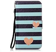 For Card Holder Flip Pattern Case Full Body Case Lines  Wav Hard PU Leather for LG K10  LG K8  LG K7  LG LS770 LG LS775 LG V20 LG X POWER LG X SCREEN