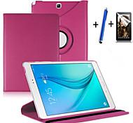 Para Com Suporte / Flip / Rotação 360° Capinha Corpo Inteiro Capinha Cor Única Rígida Couro PU Samsung Tab A 9.7