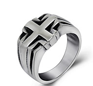 Ring Wedding / Party / Daily Jewelry Titanium Steel Men Ring 1pc,One Size Grey
