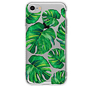 Green leaf  TPU Case For Iphone 7 7Plus 6S/6 6Plus/5S SE