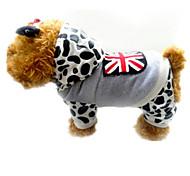 Hund Mäntel Hundekleidung Lässig/Alltäglich Leopardenmuster Grau