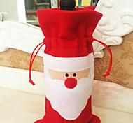 Noel garrafa de vinho tinto vinho natal saco de garrafa