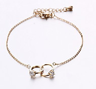Bracelet Chain Bracelet Alloy Fashion / Personalized Gift / Daily / Casual Jewelry Gift Silver,1pc