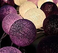 Christmas Fairy String LightsHome Decoration Fiestas LampGarland Strip lighting Wedding luminarias110/220V 20pcs Cotton ball