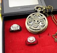Uhr/Armbanduhr / Mehre Accessoires Inspiriert von One Piece Ace Anime Cosplay Accessoires Uhr/Armbanduhr / Ring Gold Legierung