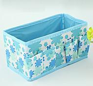 Solid Nylon Waterproof Blue Normal 1 Cosmetic Bag