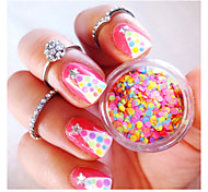 Mixed Nail Art Glitter Decoration Colorful Mini Round Thin Paillette Design
