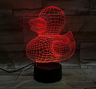 Yellow Duck 3D Light Colorful Visual Touch LED light Atmosphere Table Lamp Illusion Light