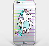 Pour Coque iPhone 7 Coque iPhone 6 Coque iPhone 5 Ultrafine Transparente Motif Coque Coque Arrière Coque Animal Flexible PUT pour Apple