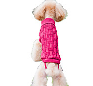 Dog Sweater Pink Dog Clothes Spring/Fall Stripe Keep Warm