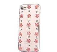 Per Con diamantini Custodia Custodia posteriore Custodia Fiore decorativo Resistente PC per AppleiPhone 7 Plus / iPhone 7 / iPhone 6s