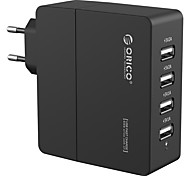 ORICO DCA-4U Fast AC Power USB Wall Travel Quick Charger for Apple Samsung Huawei xiaomi Tablet