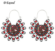 Hot Selling Colorful Sun Flower Shaped Crystal Alloy Hoop Drop Earring For Christmas Gift ER154892