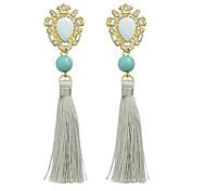 Long Chain Tassel Earrings Women