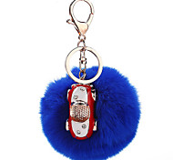 Key Chain Sphere Key Chain Navy Blue Plush Metal