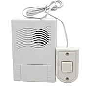 White Wired Electric Push Button Door Bell Doorbell Button Chime Easy Install for Home Office Hotel