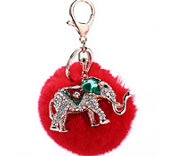 Key Chain Sphere Key Chain Red Metal / Plush