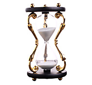 Toys For Boys Discovery Toys Hourglasses Cylindrical Glass Metal Red Black Gold