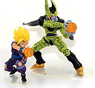 Figuras de Ação Anime Inspirado por Dragon ball Son Gohan Anime Acessórios de Cosplay figura Verde PVC