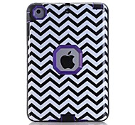 Waves Pattern Colour Printing Water/Dirt/Shock Proof Waterproof Three in One IMD Cover Case for iPad mini 1/2/3