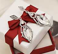 Drop Earrings Jewelry Crystal Sterling Silver Luxury Jewelry Silver Jewelry Daily Casual 1 pair