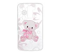 For LG V20 V10 K10 K8 K7 G5 G4 G3 Case Cover Cartoon Bear Pattern Back Cover Soft TPU