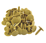 50pcs Car Push-Type Retainer Fasteners Clips Plastic Rivet 35mm Length