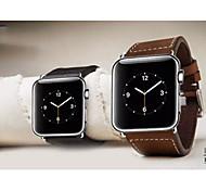 38mm hebilla clásica genuina banda de reloj de cuero colección chicago reemplazo de la correa para el reloj de la manzana