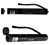 LT-G303  Adjustable Focus Green Laser Pointer(2MW. 532nm. 1*18650.Black)