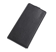 For DOOGEE Case Card Holder / Flip Case Full Body Case Solid Color Hard PU Leather DOOGEE