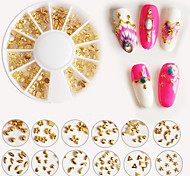 Mixed Form Metal Punk Rivet Nail Art Tips Fashion Metallic Nail Art Decorations