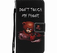For Google Pixel XL Pixel Case Cover Bear Painted PU Phone Case