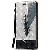 For Samsung Galaxy A3 A5(2016)Case Cover 3D Feather  Hard PU Leather for A3 A5