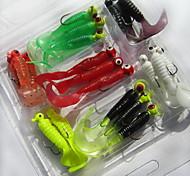 21 штук Мягкие приманки Рыболовная приманка черви личинка г/Унция мм дюймовый,Мягкие пластиковые Морское рыболовство Пресноводная рыбалка