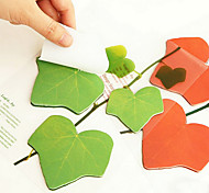 Simulation Leaves Design 45 Pages Self-Stick Note(Assorted Color)