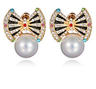 Earrings Crystal Pearl Simulated Diamond Alloy Jewelry Party 1 pair