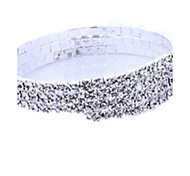 Women's Bangles Crystal Simulated Diamond Friendship Bridal Fashion Star Silver Jewelry 1pc