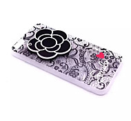 Para En Relieve Funda Cubierta Trasera Funda Flor Dura Policarbonato para Apple iPhone 7 Plus / iPhone 7