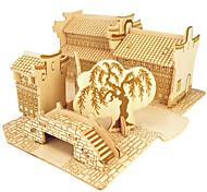Пазлы Деревянные пазлы Строительные блоки DIY игрушки Боец Китайская архитектура 1 Дерево Со стразами Модели и конструкторы