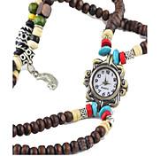 Men's Women's Wrist watch Quartz Leather Band Brown Brand