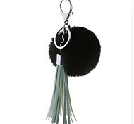 Key Chain Sphere Key Chain Black / Green Metal / Plush