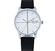 Men's Wrist watch Quartz PU Band Black Brown Brand