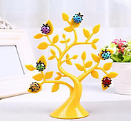 Creative Lucky Tree with Ladybug Fridge Magnets