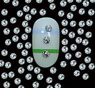 100PCS  2MM Round Silver Metal Rivet Studs With Top Grain Line Nail Art Decoration