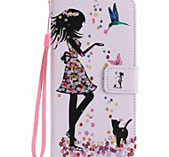 For Google Pixel XL Pixel Case Cover Woman and Cat Painted PU Phone Case