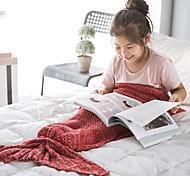 Blanket for Kid's Travel Rest Acrylic-Green Blue Blushing Pink Light Pink Dark Purple