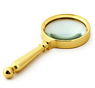 80mm Hand-Held All-Metal Reading Magnifying Glass With A Gift 10 Times The High-Definition Optical Large-Caliber